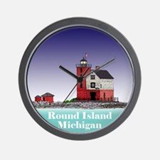 The Round Island Lighthouse Wall Clock