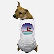 The Round Island Lighthouse Dog T-Shirt