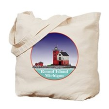 The Round Island Lighthouse Tote Bag