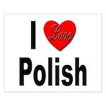 I Love Polish Small Poster