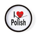 I Love Polish Wall Clock