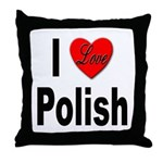 I Love Polish Throw Pillow