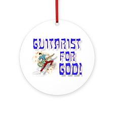 Christian Guitar For God Ornament (Round)
