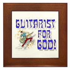 Christian Guitar For God Framed Tile
