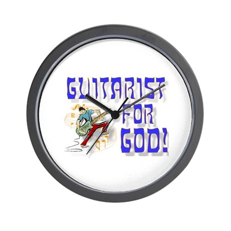 Christian Guitar For God Wall Clock