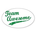 Team Awesome Oval Sticker