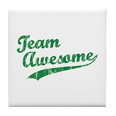 Team Awesome Tile Coaster