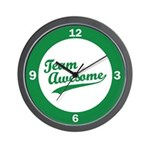 Team Awesome Wall Clock