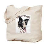 Border Collie Dad's Tote Bag