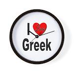 I Love Greek Wall Clock