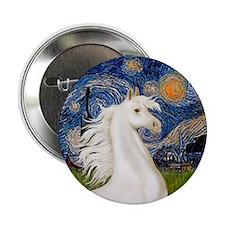 """Starry/Arabian horse (w) 2.25"""" Button"""
