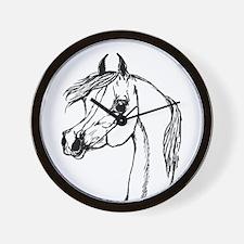 Padron Psyche Arabian Stallion Portrait Wall Clock