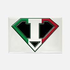 Italian superman Rectangle Magnet