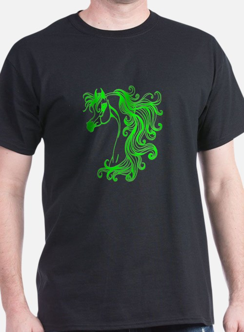 Neon Green Fantasy Arabian T-Shirt