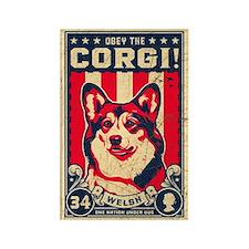 Corgi Patriotism! Rectangular Magnet