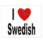 I Love Swedish Small Poster