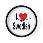 I Love Swedish Wall Clock