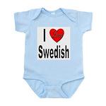 I Love Swedish Infant Creeper