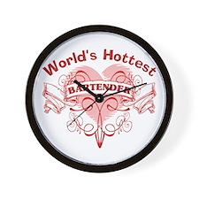 World's Hottest Bartender Wall Clock