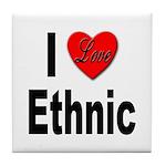 I Love Ethnic Tile Coaster