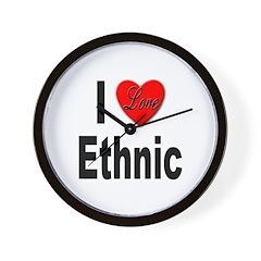 I Love Ethnic Wall Clock