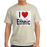 I Love Ethnic Ash Grey T-Shirt
