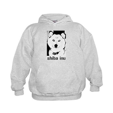 B/W Shiba Inu Kids Hoodie