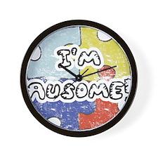I'm Ausome - FADED Wall Clock