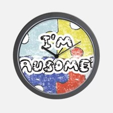I'm Ausome - FADED Wall Clock