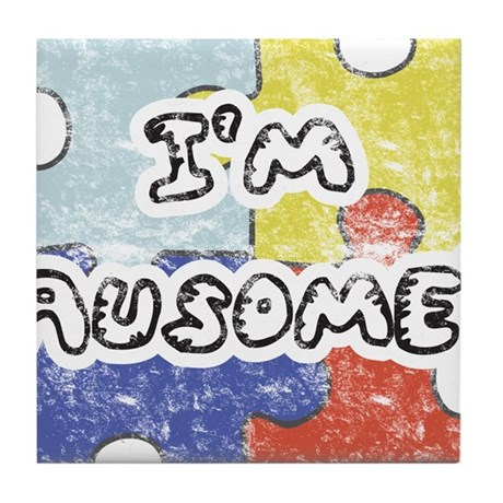 I'm Ausome - FADED Tile Coaster