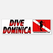 Dive Dominica (red) Bumpersticker