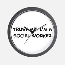Trust Me: Social Worker Wall Clock
