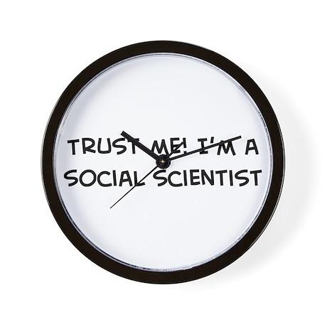Trust Me: Social Scientist Wall Clock