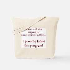 12 Step Greys Anatomy Program Tote Bag