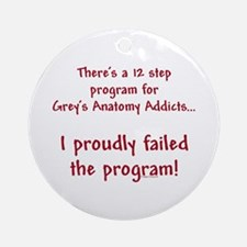 12 Step Greys Anatomy Program Ornament (Round)