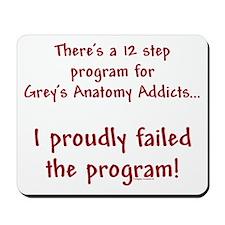 12 Step Greys Anatomy Program Mousepad