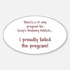12 Step Greys Anatomy Program Decal