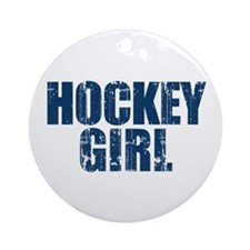 Hockey Girl Ornament (Round)