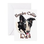 Border Collie Dad's Greeting Cards Pkg6
