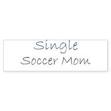 Single Soccer Mom Bumper Bumper Sticker