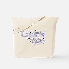 Team Edward Sparkles Purse Tote Bag