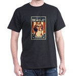 Beagle Patriotism- USA Black T-Shirt