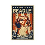 Obey the Beagle! Rectangle Magnets (10 pack)