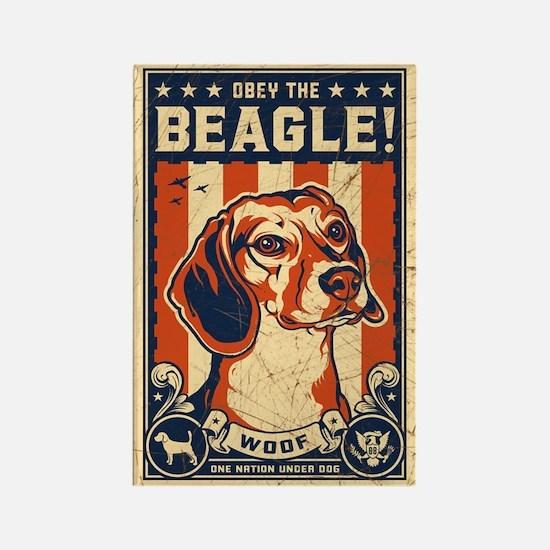 Obey the Beagle! USA Propaganda Magnet