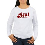 Real tits? funny slogan design Women's Long Sleeve