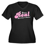Real tits? funny slogan design Women's Plus Size V