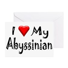 Love My Abyssinian Greeting Cards (Pk of 10)