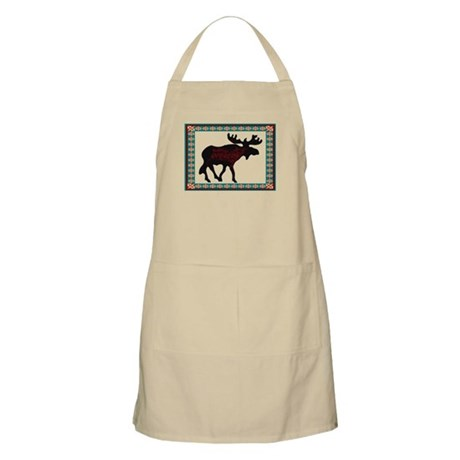 Teal Moose Quilt BBQ Apron