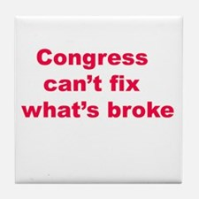 congress pathetic Tile Coaster