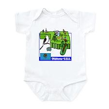 Oklahoma Map Infant Bodysuit